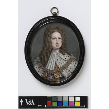 Portrait miniature - King George I