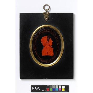 Portrait miniature - Portrait of an unknown woman