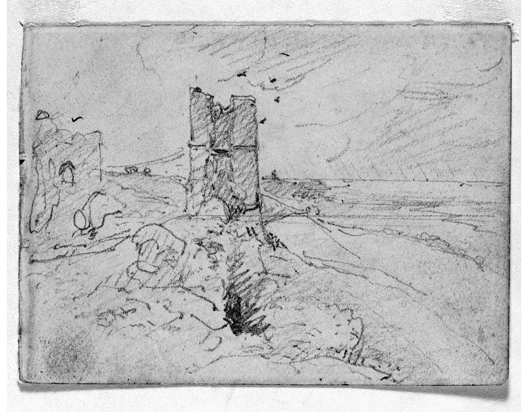 Constable, Sketch of Hadleigh Castle near Southend