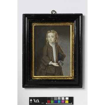 Portrait miniature - Portrait of Andrew Benjamin Lens, son of the artist