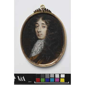 Portrait miniature - An Unknown Man, possibly James II as Duke of York