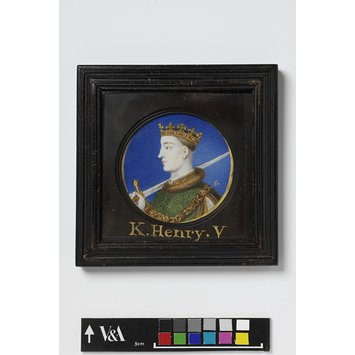 Portrait miniature - Portrait of Henry V, from a series of images of royalty in miniature