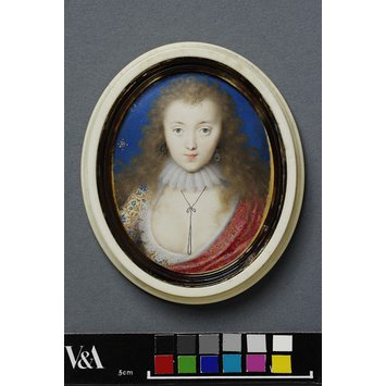 Portrait miniature - Venetia Stanley, Lady Digby; A Girl, believed to be Venetia Stanley, Lady Digby
