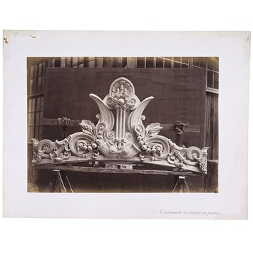 Photograph - Coping of the gutters above the pediments, Paris Opera; E Couronnement des chneaux des frontons, Paris Opera