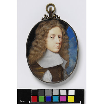 Portrait miniature - Sir Samuel Morland, Bart