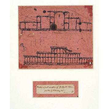 Print - Facsimile of Sir Joseph Paxton's original sketch of the Crystal Palace
