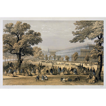 Print - View from Kensington Gardens, looking down the King's Road