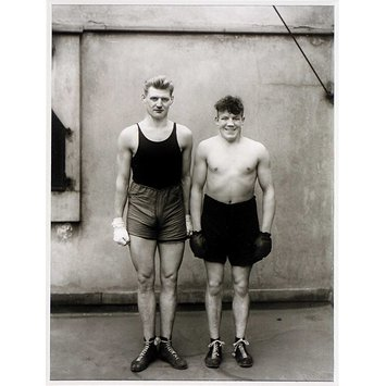 Photograph - The Boxers - Paul Roderstein and Hein Hesse