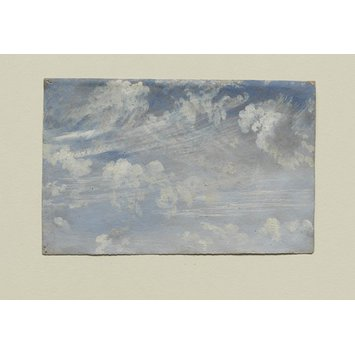 Oil painting - Study of Cirrus Clouds