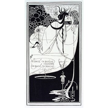 Print - Design for The Climax from Oscar Wilde's Salome; J'ai baisé ta bouche Iokanaan