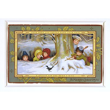 Greetings card - Robin Hood & the Blackbird: a Tale of a Christmas Dinner