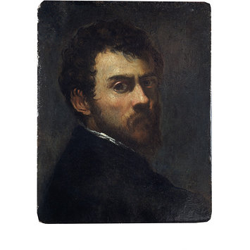 Oil painting - Self-Portrait as a Young Man; Jacopo Tintoretto: self-portrait as a young man.