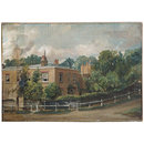 View of Lower Terrace, Hampstead (Oil painting)