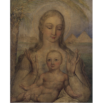 Tempera painting - The Virgin and Child in Egypt
