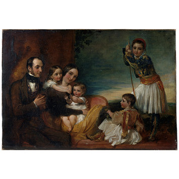 Oil painting - The Family of Alexander Constantine Ionides