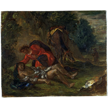 Oil painting - The Good Samaritan