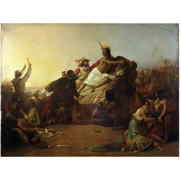 Oil painting - Pizarro Seizing the Inca of Peru