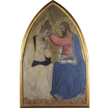 Tempera painting - The Coronation of the Virgin
