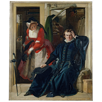 Oil painting - Scene from Ben Jonson's Every Man in His Humour (Act II, Scene I)