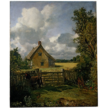 Oil painting - The Cottage in a Cornfield