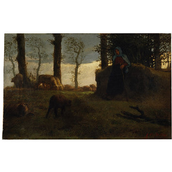 Oil painting - The Shepherdess