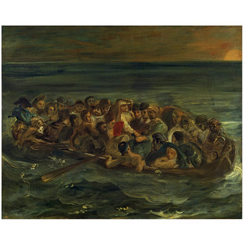Oil painting - The Shipwreck of Don Juan: A Sketch; La barque de don juan. Premire pense.