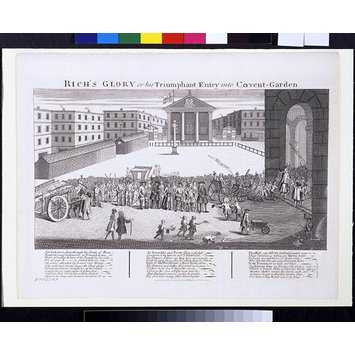 Print - H Beard Print Collection; Rich's Glory or his Triumphant Entry into Covent Garden