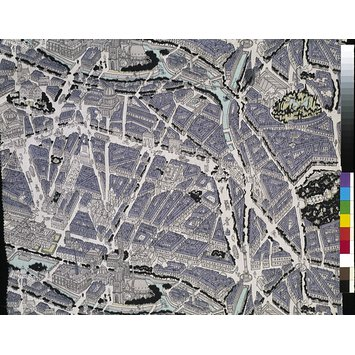 Dress fabric - Map of Paris