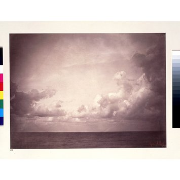 Photograph - Seascape with Cloud Study; Vue de mer, Ciel Nuageux