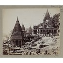 Vishnu Pud and Other Temples near the Burning Ghat, Benares (Varanasi) (Photograph)