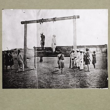 Photograph - Execution of two Indian mutineers