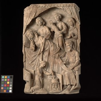 Panel - Birth and naming of St John the Baptist