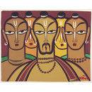 Five Vishnu Devotees (Painting)