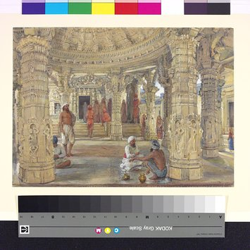 Painting - Interior of the Neminath temple, Dilwara, Mount Abu