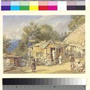 View of the wood bazaar, Simla (Painting)