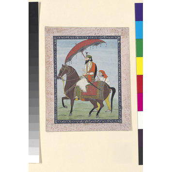 Painting - Raja Dhian Singh on horseback