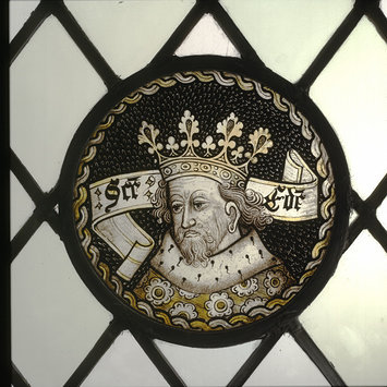 Roundel - Saint Edmund the Martyr; Saint Edward the Confessor
