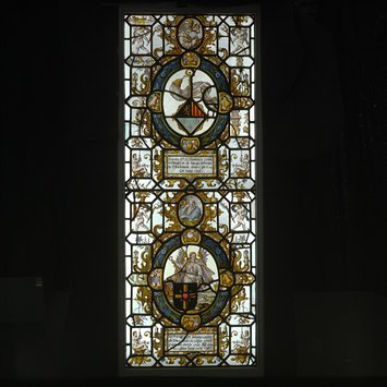 Panel - The Arms of Margaret of Mons and Jan de Geloes