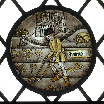 Panel - Labours of the Months; Month of June
