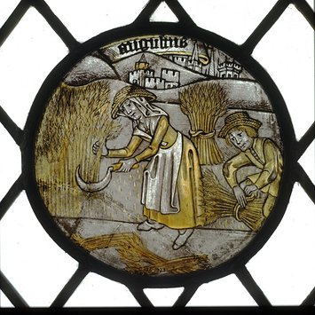 Panel - Labours of the Months; Month of August