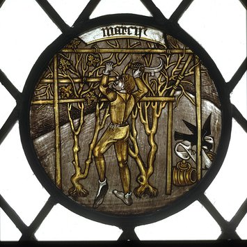 Panel - Labours of the Months; Month of March