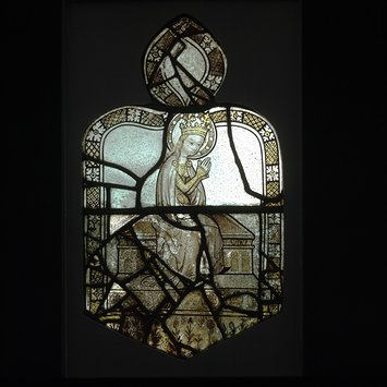 Panel - Virgin enthroned