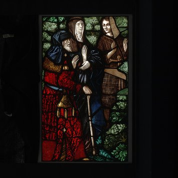 Panel - Saint John the Baptist takes leave of his parents