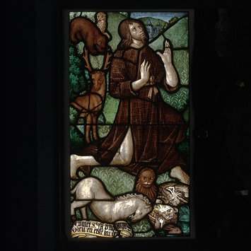 Panel - St John the Baptist praying in the wilderness
