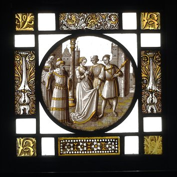 Roundel - Susannah Accused by the Elders and Led to Judgement