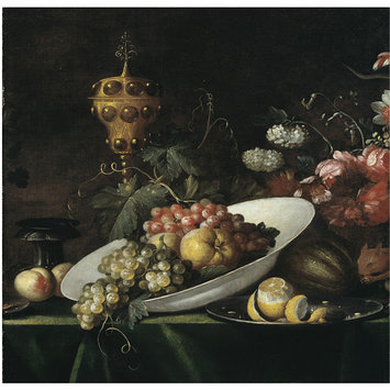 Oil painting - Fruit piece, with covered gilt goblet
