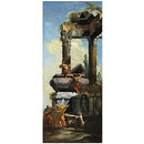 A Fountain with Classical ruins (Oil painting)