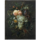 Festoon with Fruit, Corn, Nuts and Flowers (Oil painting)