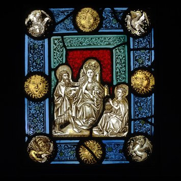 Panel - Virgin and Child with Saint John the Baptist and Saint Dorothy