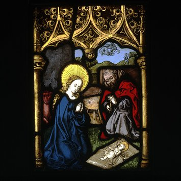 Panel - Mary and Joseph Adoring the Christ Child